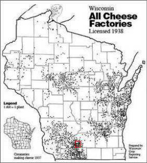 All Cheese Factories Map - 1938